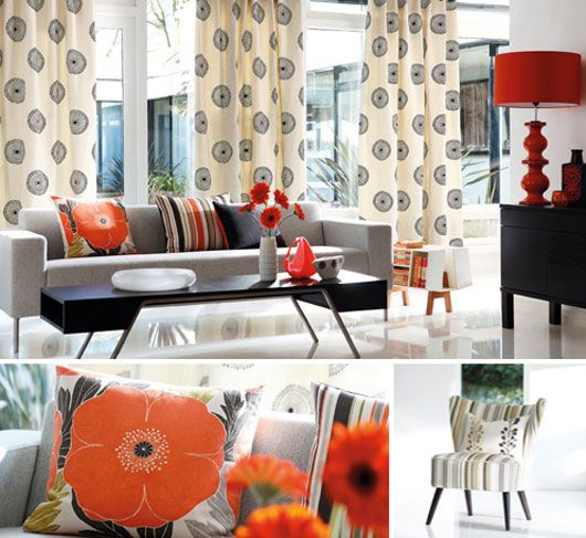 Colorfull of Interior Motives Design with Fabric by Harlequin