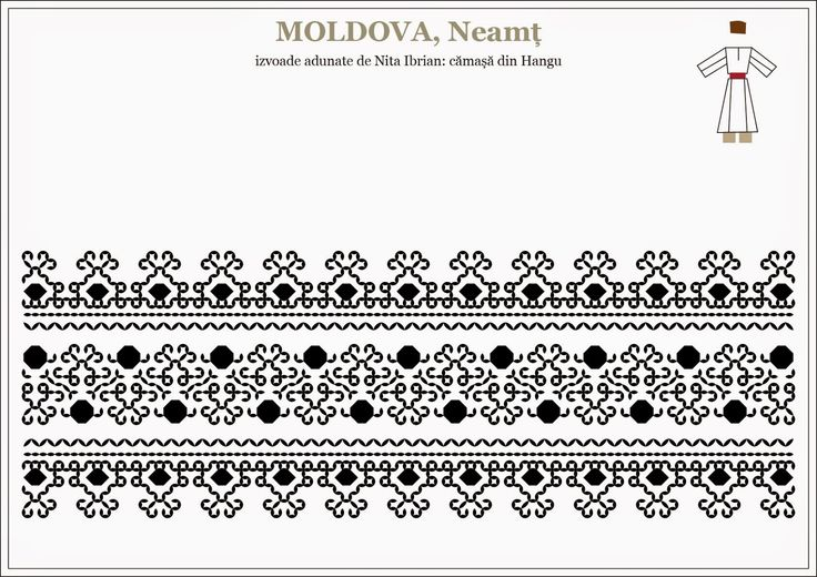Semne Cusute: romanian traditional motifs - MUNTENIA, Neamt, Han...