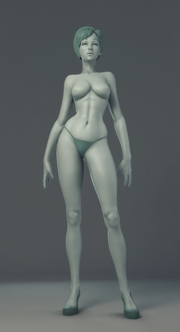 Stylized Female Study by Niyazi Selimoglu, via Behance
