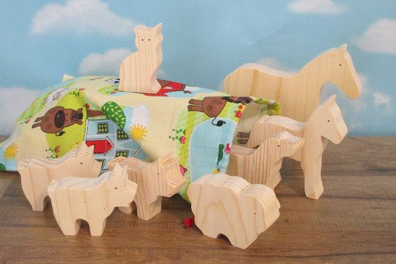 Wooden animal toys for kids  Wooden toy animals  by WoodenYaPlay