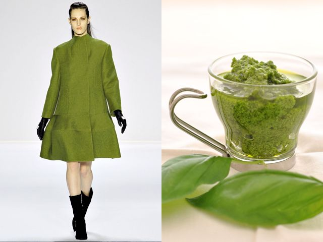 "Narciso Rodriguez fw 2012-13 / ""Pesto alla genovese"" in a modern way"