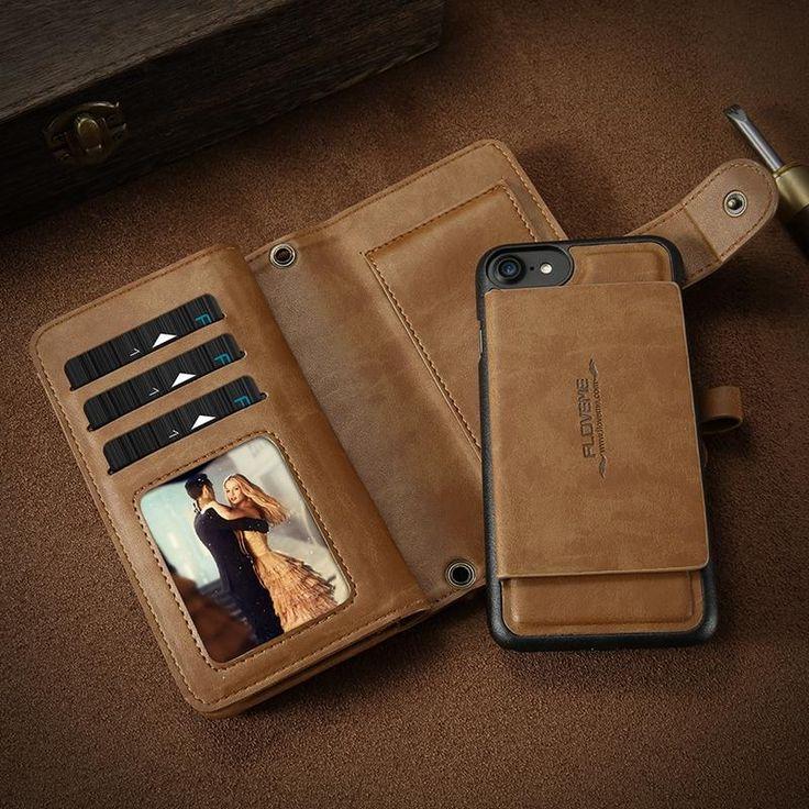 5.5 Inch Floveme Detachable Zipper Wallet Case For iPhone 8/7/6/6s Plus Sale - Banggood.com