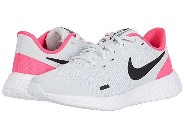 Nike Kids Revolution 5 Big Kid Zappos Com In 2020 Girls Shoes Kids Nike Kids White Shoes For Girls