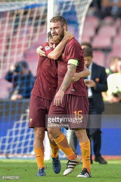 News Photo : Alessandro Florenzi and Daniele De Rossi of AS...