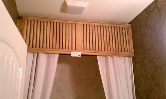 Shutter for a valance over a shower curtain by lydia