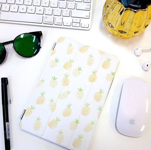 Summer is coming. Pineapple iPad case by Wonder Forest.♥♥ Buy on Casetify for $39.95, and get $10 off with coupon code X469YF.