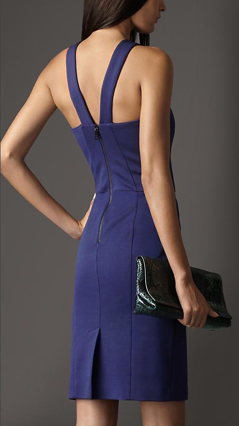 Vestido de malha recortado | Burberry