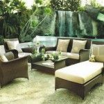 Furniture Exterior Natural Outdoor Furniture Okc Equipped Brown Rattan Platform Curved Arm Rest Long Couch In White Sofa Leather Lower Table Bringing Comfortable Nuance In Patio Beauty Brown Concept of Outdoor Furniture with an Interesting Idea