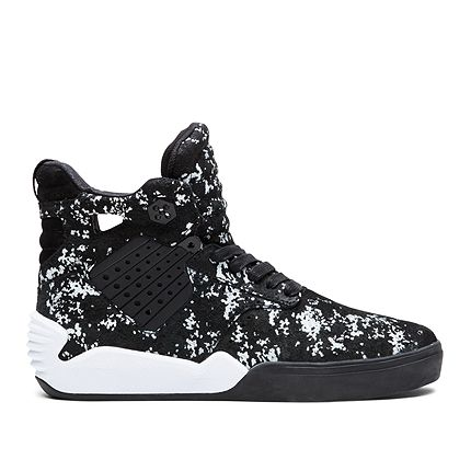 SUPRA Footwear™ | Official Store | SKYTOP IV | BLACK/PATTERN - WHITE