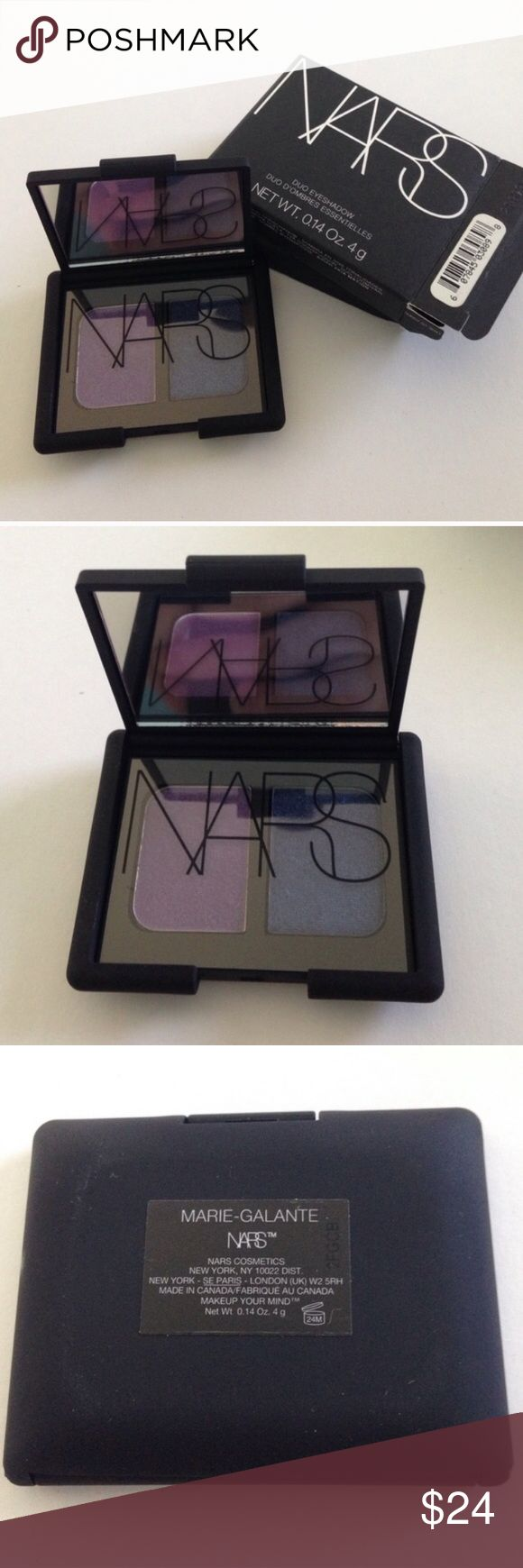 New Authentic NARS Eyeshadow Duo Marie-Galante Brand New Authentic NARS Eyeshadow Duo Marie-Galante in original packaging. Never swatched. No trades. NARS Makeup Eyeshadow