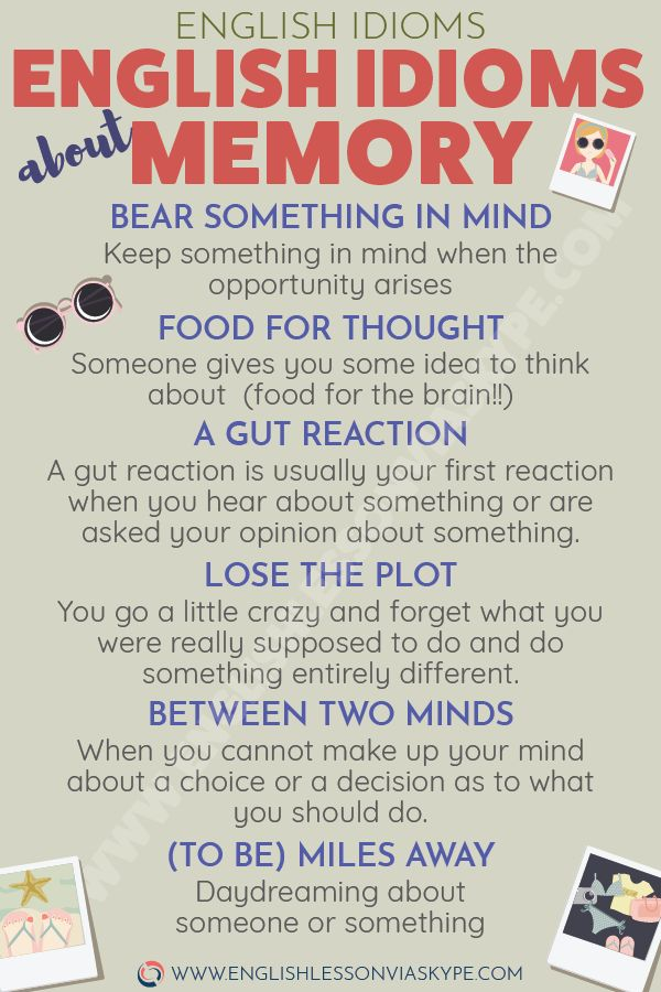 English Idioms about Reminiscence