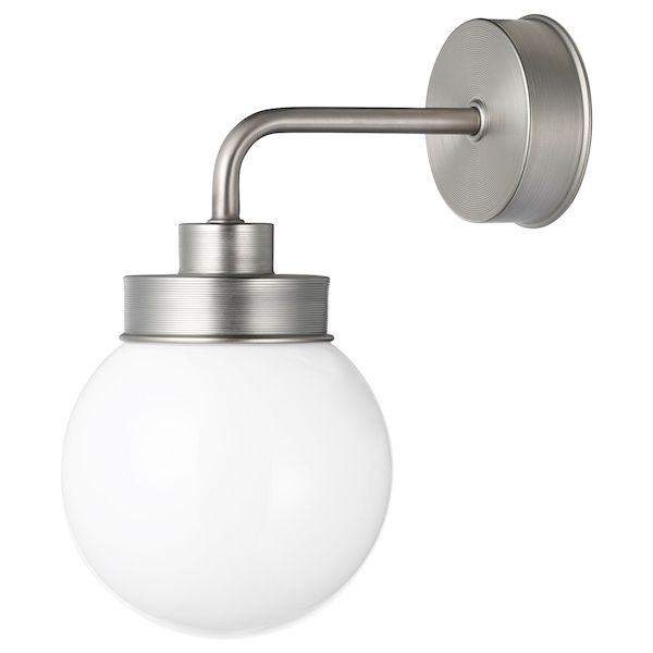 FRIHULT Wall lamp stainless steel colour   Ikea, Stainless