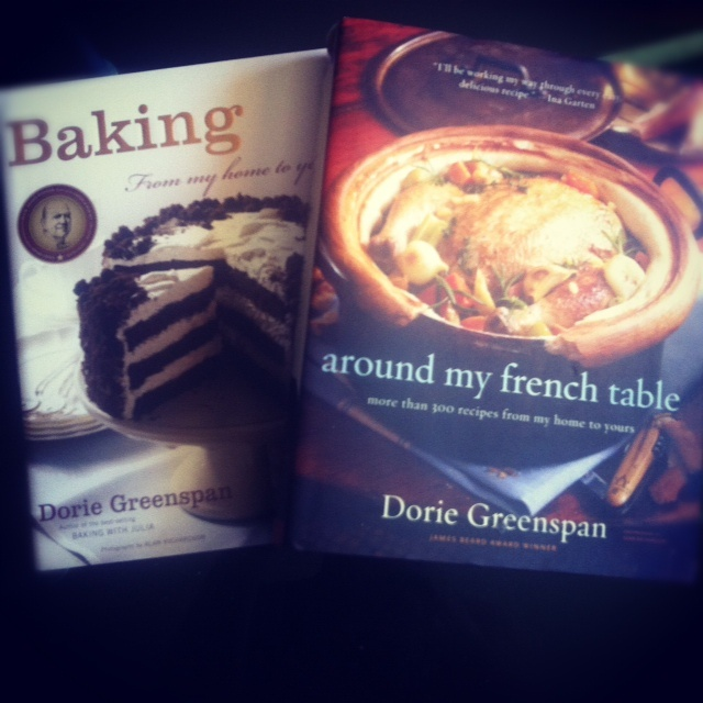 BAKING and AROUND MY FRENCH TABLE by Dorie Greenspan. Two of the best cookbooks ever!