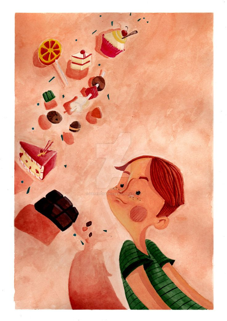Dolcetti by IreneMontano #candy #childrenillustration #gnam #littleboy #sweet
