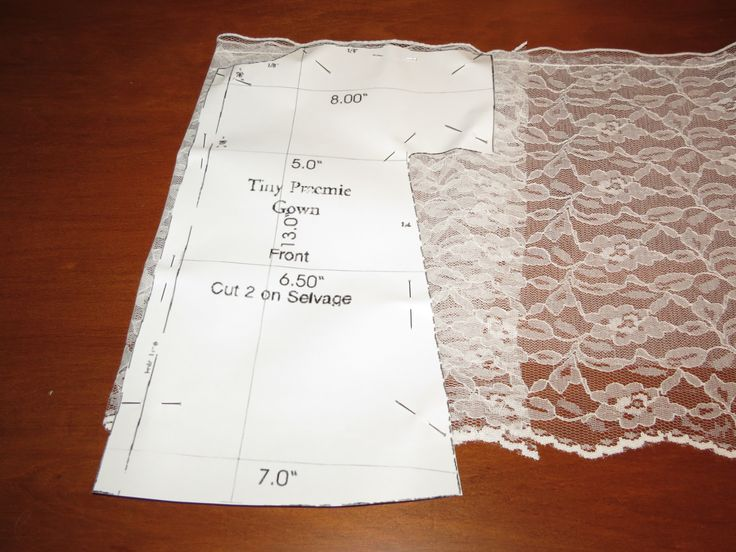 Baby Burial Gown Patterns | ... the full size of the pattern. The finished baby gown can either