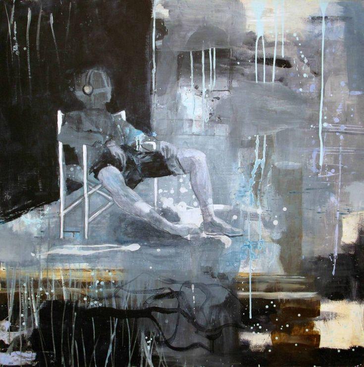 HEADPHONES BY ANNE-BRITT KRISTIANSEN  #fineart #art #painting #kunst #maleri #bilde