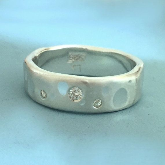 Shoreline Eternity Ring in Sterling Silver with by esdesigns