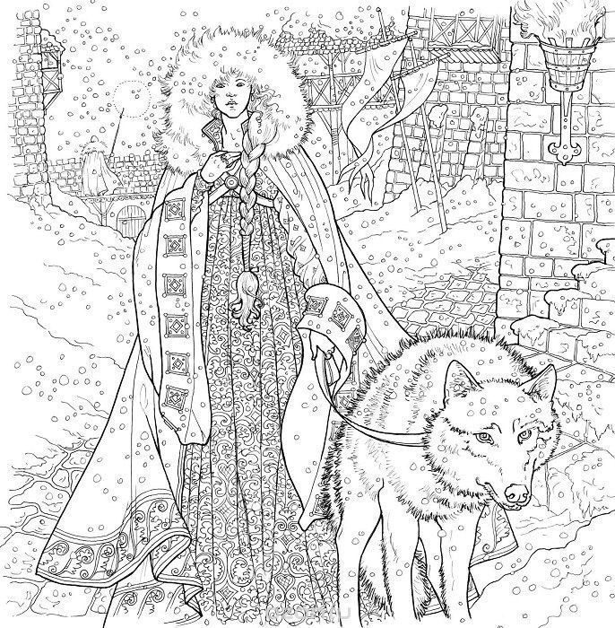 61 best Game of Thrones Coloring Pages for Adults images on ...