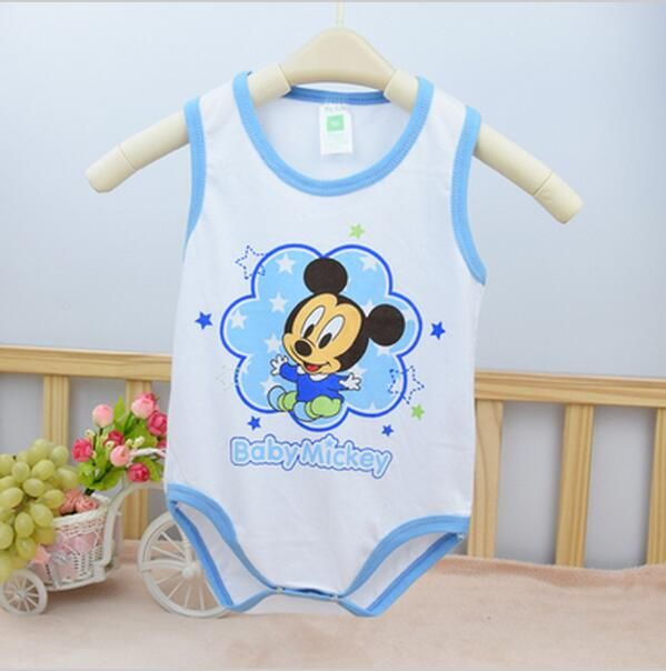 baby girl clothes summer Newborn Baby Rompers Minnie Mickey sleeveless Cotton Girls Boys Clothes roupas de bebe infantil costume