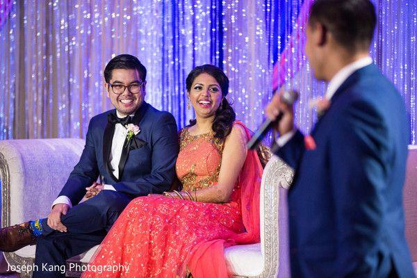 Couple during groomsman speech http://www.maharaniweddings.com/gallery/photo/100121