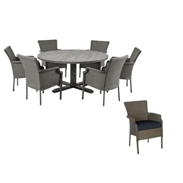 45+ Hampton bay laurel oaks 7 piece outdoor dining set Trend