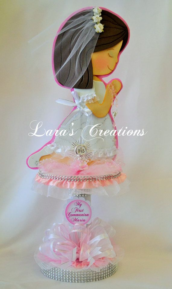 Christening Centerpiece First Communion by LarasCreationsShop