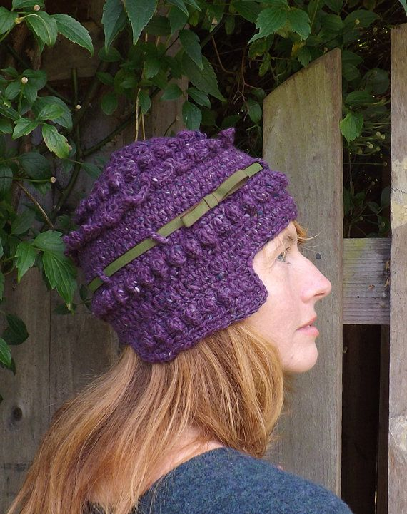 Arboresk at Etsy listing at https://www.etsy.com/listing/172341792/blackberry-purple-wool-winter-crochet
