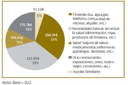 Siete de cada diez jubilados vive únicamente de su pensión pública y el 38% tiene ingresos inferiores a 750 euros mensuales