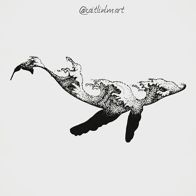 love whales by saved this image really because I like the use of negative space