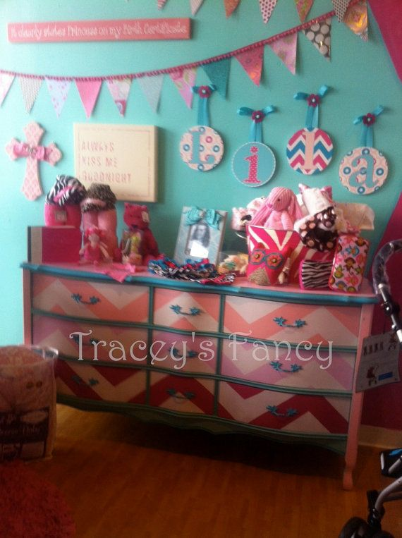 Custom Painted Chevron DresserMade to Order by TraceysFancy, $995.00