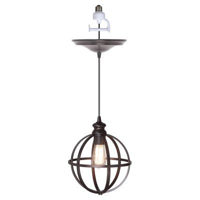 Worth Home Products Instant Screw In Pendant Light with Cage - PBN-4034-0011