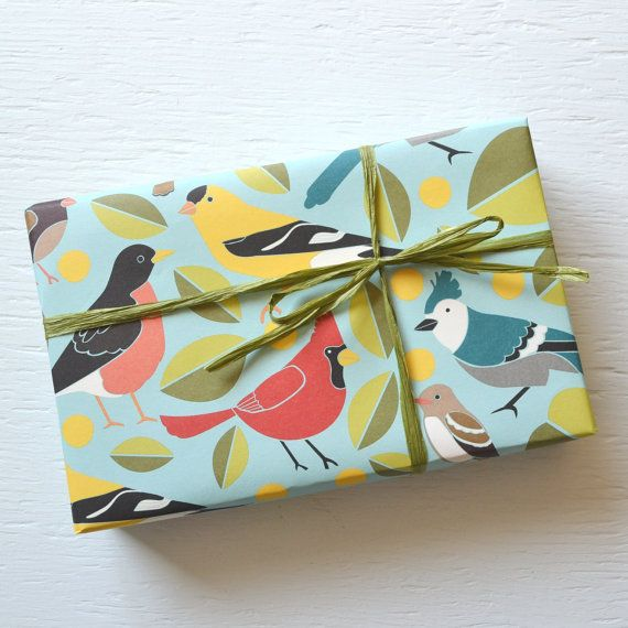2 Sheets Birds Fine Paper Wrapping Paper