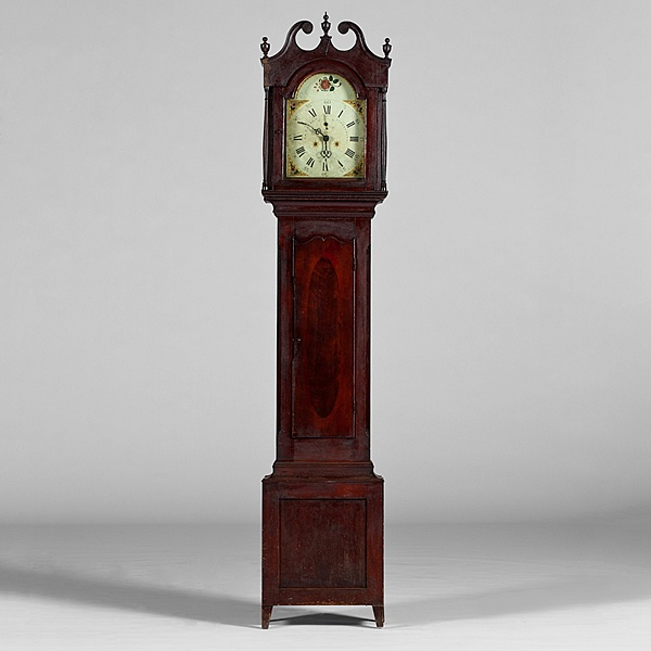 Ohio Ca 1810 1820 A Cherry Tall Case Clock Case From The Workshop Of Ezra Read Zenia Oh