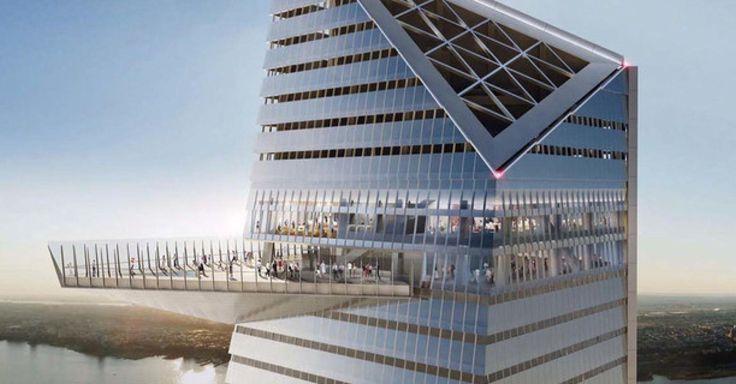 Le HuffPostVerified account @LeHuffPost  A New York, une terrasse suspendue à flanc de gratte-ciel, 335 mètres au-dessus de Manhattan (PHOTO) http://huff.to/1ISOCKl