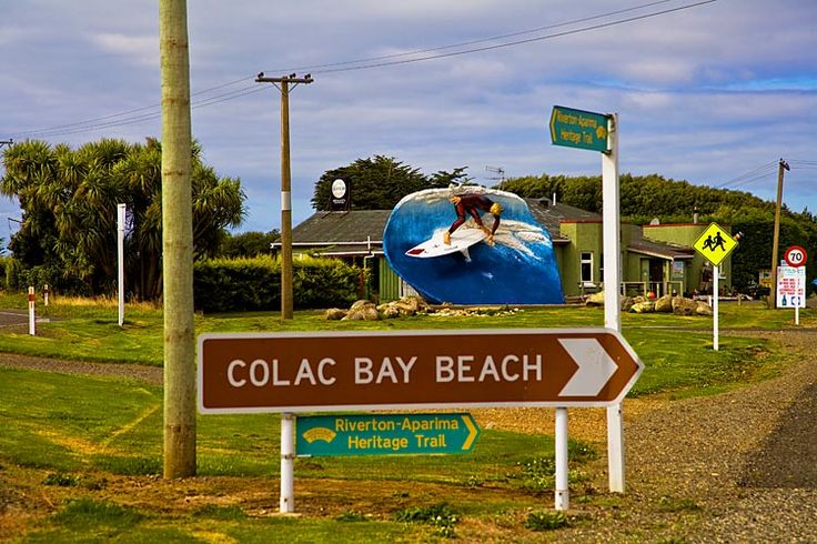 Colac Bay, surfing mecca, see more, learn more, at New Zealand Journeys app for iPad www.gopix.co.nz