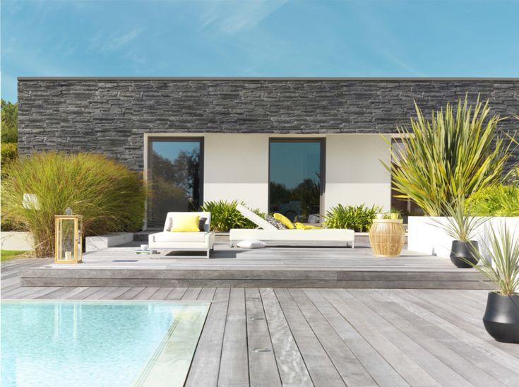 les 25 meilleures id es de la cat gorie parement pierre exterieur sur pinterest parement. Black Bedroom Furniture Sets. Home Design Ideas