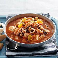Recept - Spaanse vissoep met paprika en tomaat - Allerhande