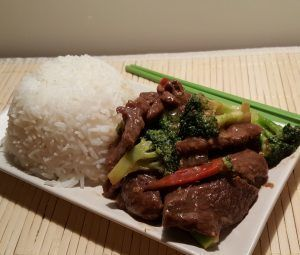 This Pressure Cooker Chinese Take-Out Beef and Broccoli is easy on your wallet.  Cooking the rice at the same time and in the same pot, makes this Beef and Broccoli a One Pot Meal!