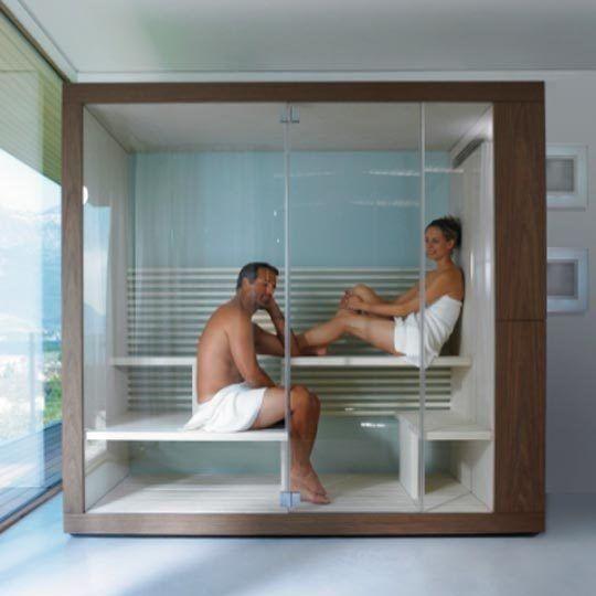 5 compact home saunas more saunas compact and sauna for Indoor sauna plans