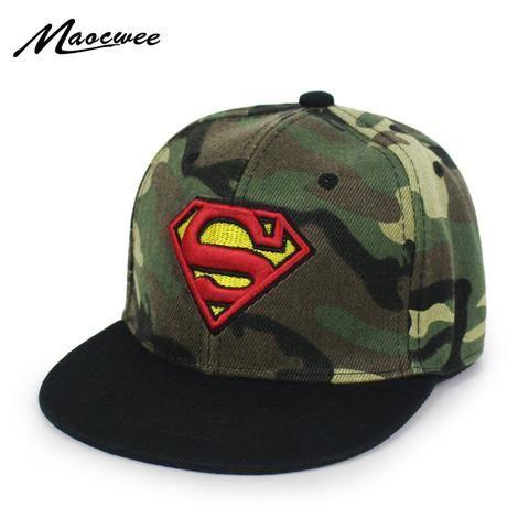 Baby Army hat Camouflage Baseball Cap Children s hats Fashion Iron Man  Captain Batman Spider-Man Snapback Boys Hip Hop Kids Hat 5e5fa54ac69f