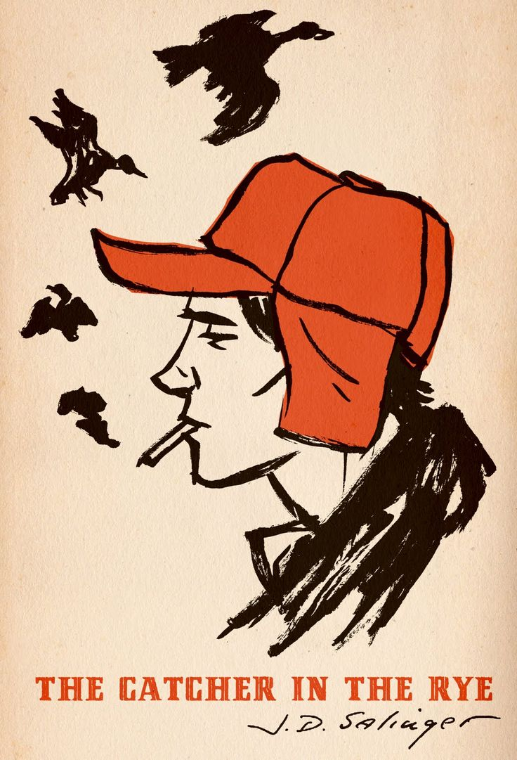 """The Catcher in the Rye"" J.D. Salinger. Illustration by M.S. Corley."