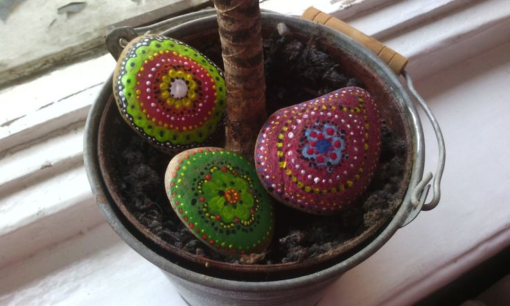 Stones with acryl