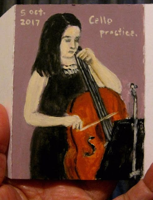 it is all in the book!: Cello practice.