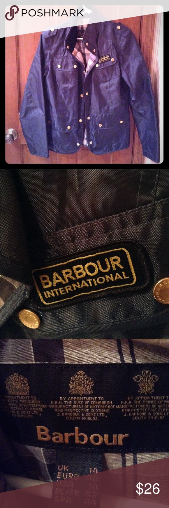 Barbour International Jacket Gently work but still in great condition!! Barbour Jackets & Coats