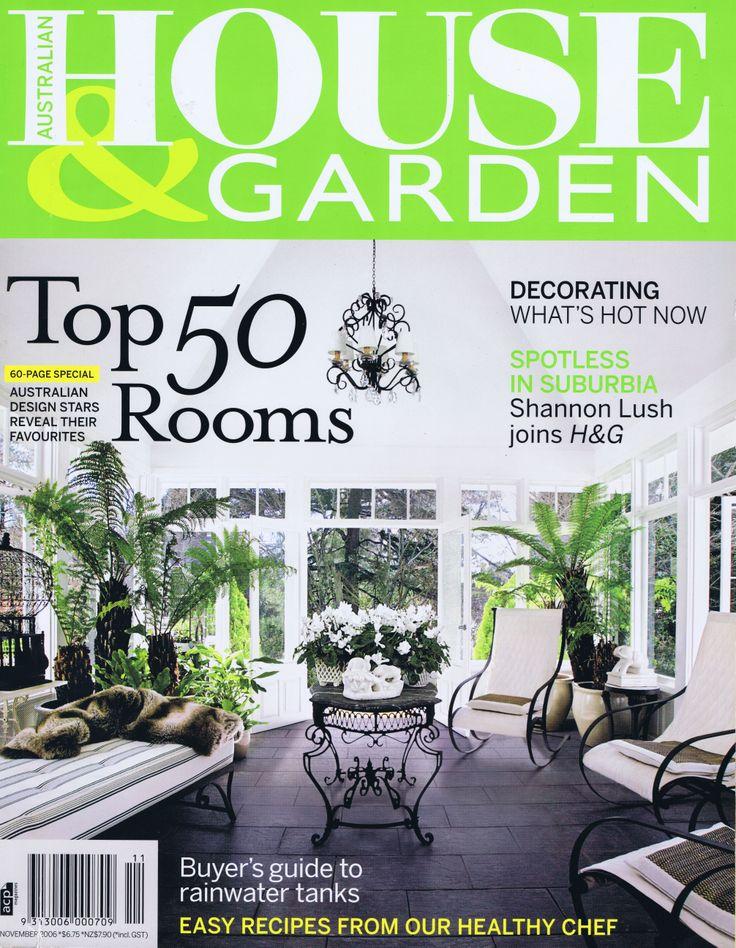 House & Garden Nov 2006 Cover                   Brooke Aitken Design