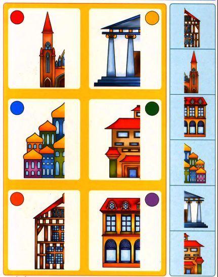 Welke gebouwen horen bij elkaar?