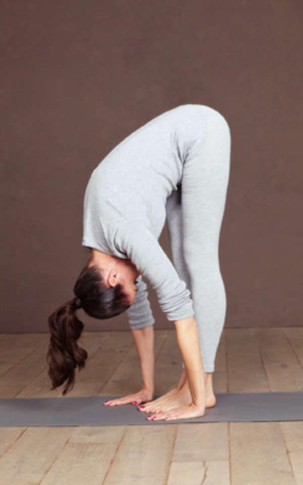 Yoga-Figur Vorbeuge