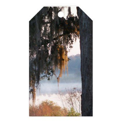 Sunrise over a small lake in the South Gift Tags - oak gifts tree leaves style nature gift idea cyo