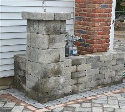 Hide Gas Meter Behind A Low Brick Wall House Patio Pinterest Bricks Walls And Breaker Box