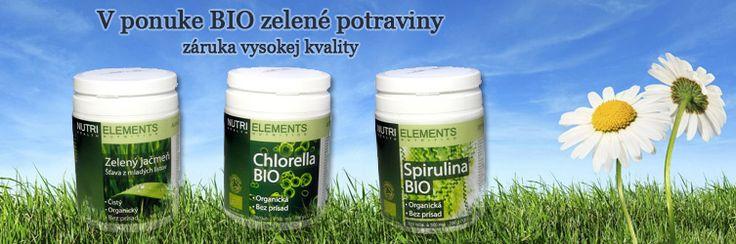 Organicky pestovaná chlorella, spirulina, zelený jačmeň. http://www.navratkuzdraviu.sk/c/zelene-potraviny
